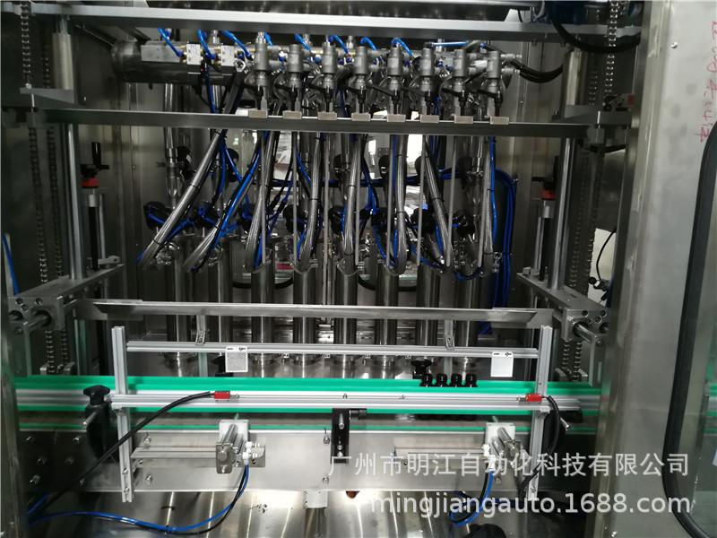 試管自動灌裝機 下管灌裝旋蓋貼標簽流水線 自動試管灌裝一體機示例圖5