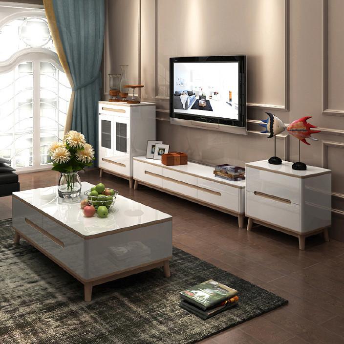 茶几电视柜矮柜地柜组合现代客厅烤漆大小户型成套家具厂家批发