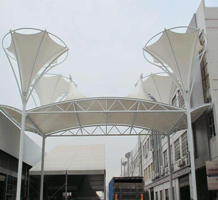 公园张拉膜幼儿园小区风景区膜结构顶棚 钢膜结构顶棚