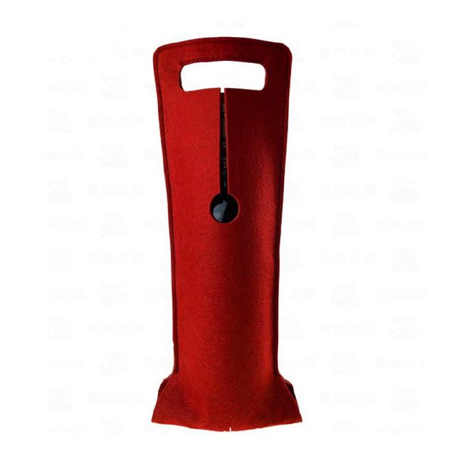 新款单支毛毡红酒袋红酒包装葡萄酒礼盒布袋礼品袋拎袋现货批发示例图1