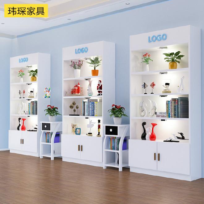 化妆品柜子展示柜展柜陈列货柜货架美容美发产品展示架美容柜带灯