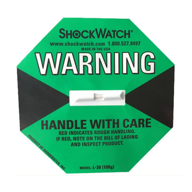 珠三角地区防震标签指示器shockwatch绿色100G防撞标贴L-30图片