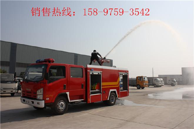 百色重汽举高喷射消防车,抢险救援消防车图片