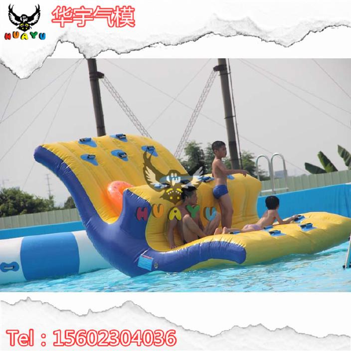 充氣水上冰山熱銷水上樂園玩具水上攀爬跳水玩具水上蹺蹺板玩具