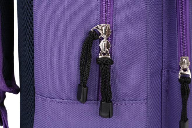 2016新款时尚韩版学院风带盖双肩学生书包 纯色休闲旅游包批发示例图31