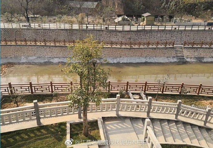 河源仿石护栏施工图