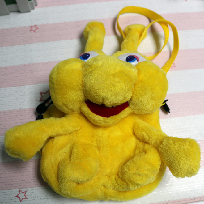 幼儿园儿童创意毛绒书包 蜗牛双肩书包