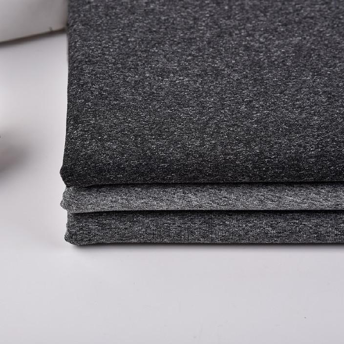 厂家直销阳离子涤氨汗布 弹力瑜伽运动服涤纶针织面料 现货供应