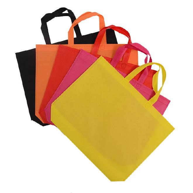 厂家直销超声波无纺布袋子现货 手提平口环保购物袋印字logo定制图片
