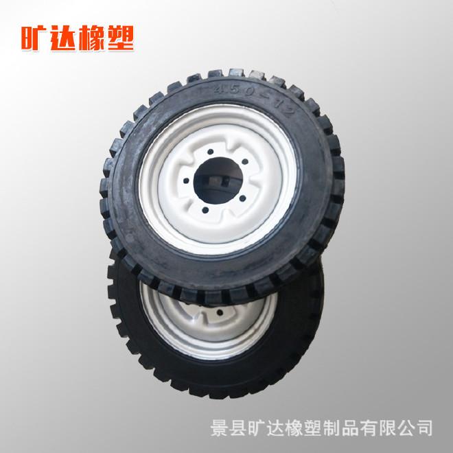 450-12电动车\/摩托车实心轮胎免充气胎轮子防