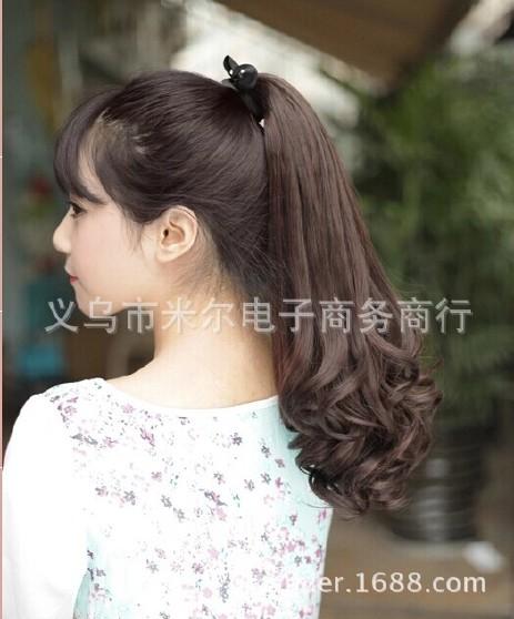 发型百梨花发55空气发真人烫发尾卷蓬松图片韩国短发女生烫绑带百分长卷图片