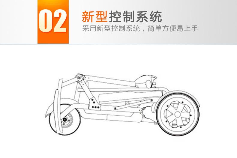 包邮上海互邦电动轮椅HBLD4-E轻便可折叠老年残疾人代步车家用示例图26