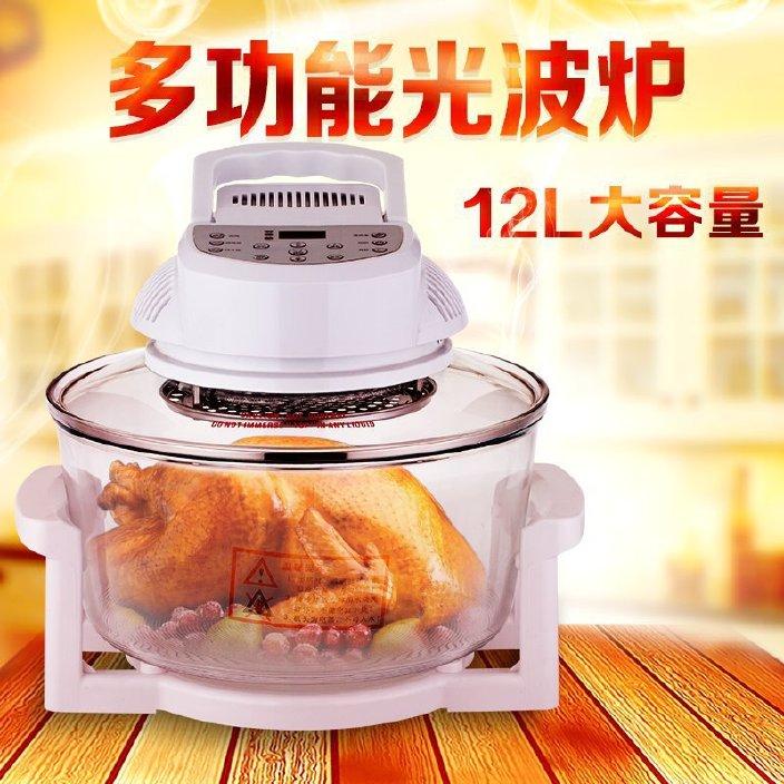 厂家直销微电脑空气炸锅智能油炸锅 家用 多功能光波炉空气烧烤炉图片