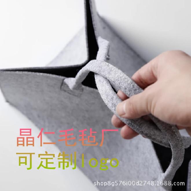 创意个性毛毡布手提袋  店铺套盒礼盒包装袋支持定做  可定制logo示例图10