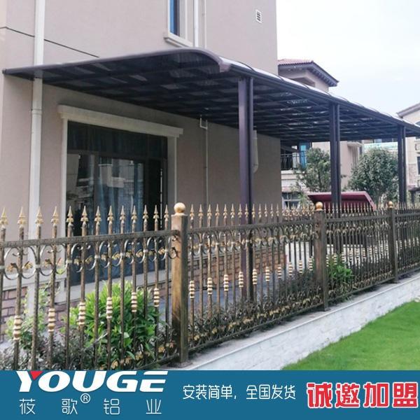 丽江雨棚厂家 加厚铝合金遮阳棚 防雨窗棚 露台遮阳棚