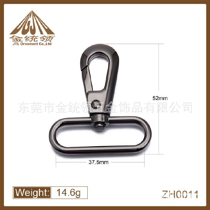锌合金背带扣厂家直销ZH0011抛光挂镀黑镍3852锌合金背带扣