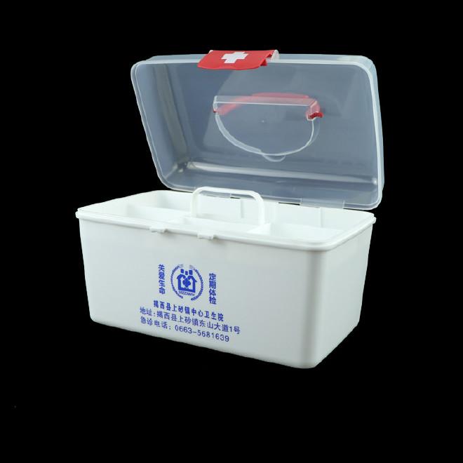 厂家直销塑料药箱 家用药箱 药品收纳箱手提箱药房赠品扶贫保健箱示例图32