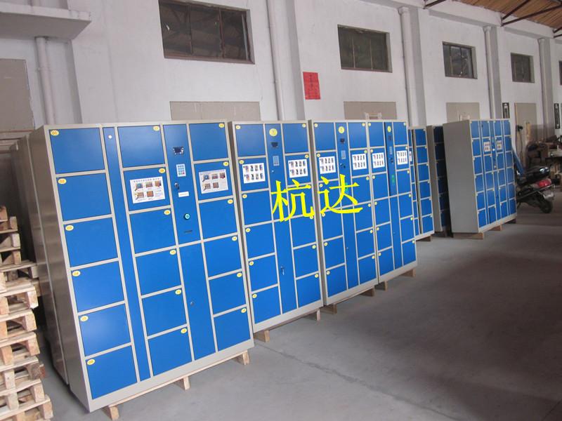 公司刷卡联网电子更衣柜杭州第九中学校联网书包柜储物柜示例图11