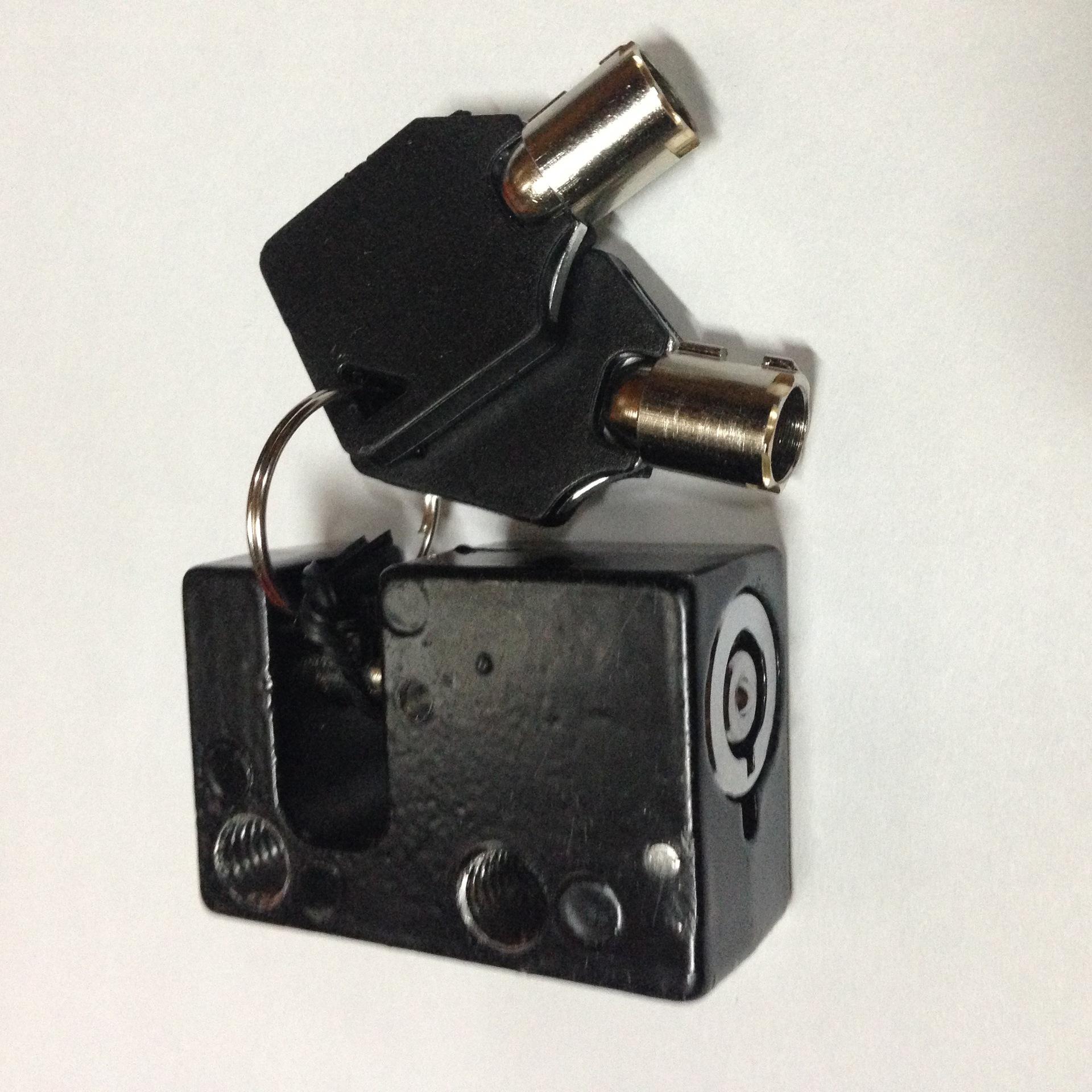 厂家直销黄金甲铁皮车锁电动车电瓶锁