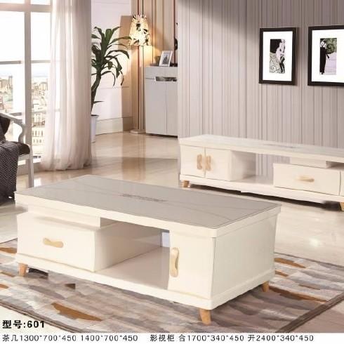 长润家具中高档现代家具高精密度板茶几电视柜组合家具套装型号601