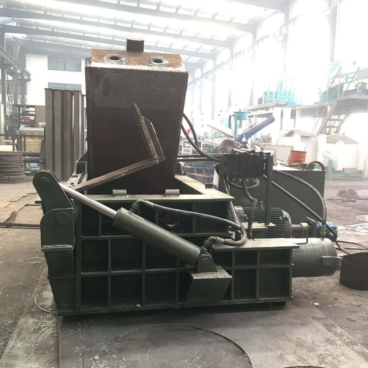 供应攀奇牌废铁打包机废旧 金属压块机 钢筋头下脚料压块机 易拉罐压块生产厂家示例图2