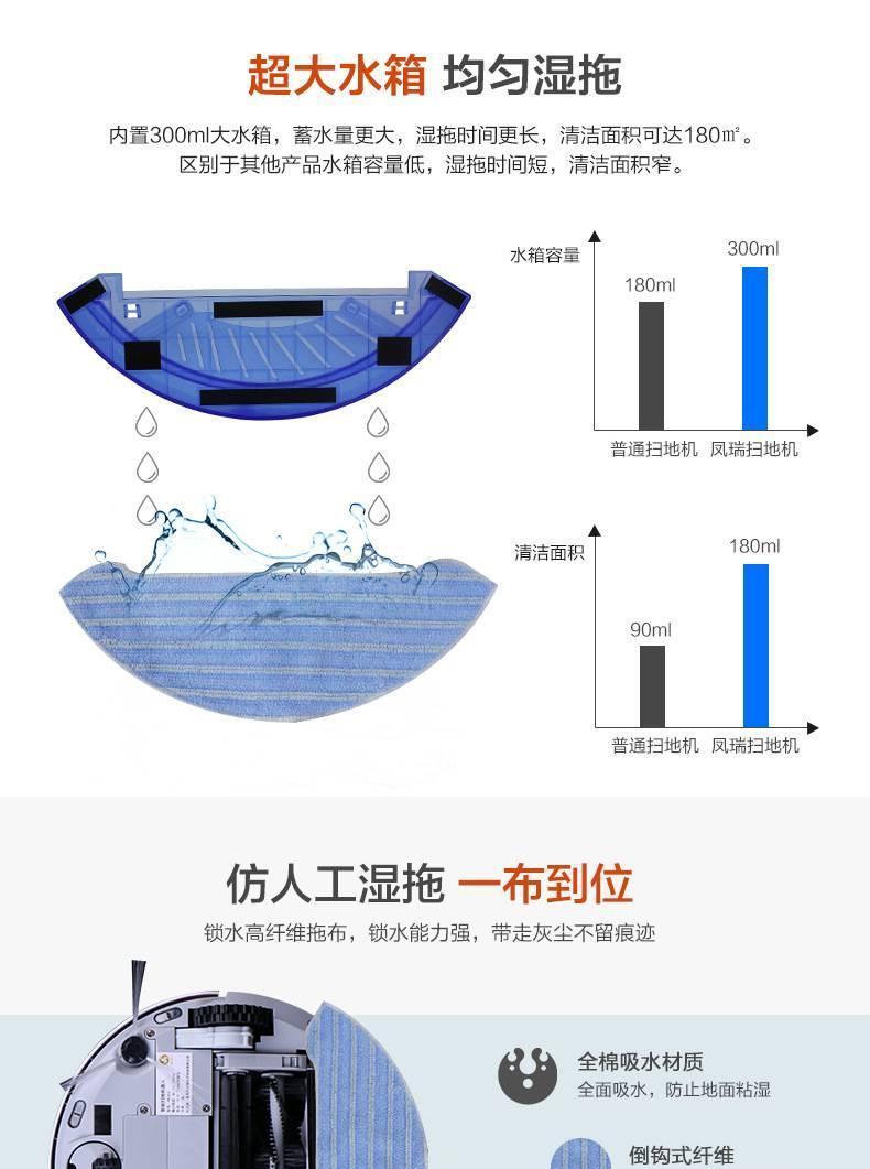 智能全自动扫地机器人家用拖扫吸式超薄oem吸尘器加工厂示例图3