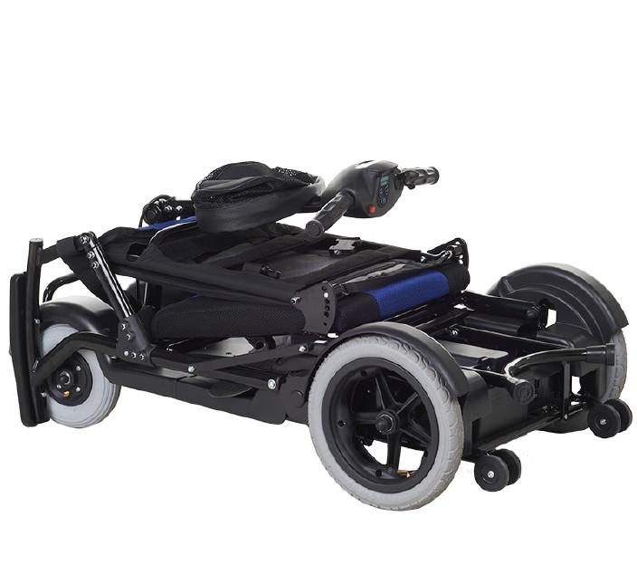 包郵上海互邦電動輪椅HBLD4-E輕便可折疊老年殘疾人代步車家用