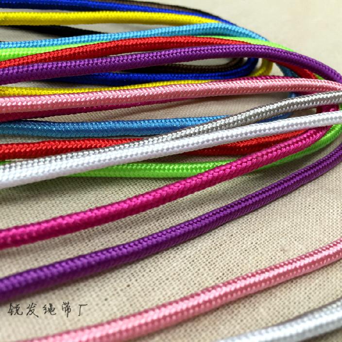 锐发 彩色涤纶绳 编织绳捆绑手提袋绳手提绳挂绳吊绳厂家直销批发图片