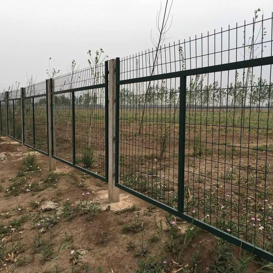 铁路专用防护网,扁铁护栏网,浸塑防护栅栏