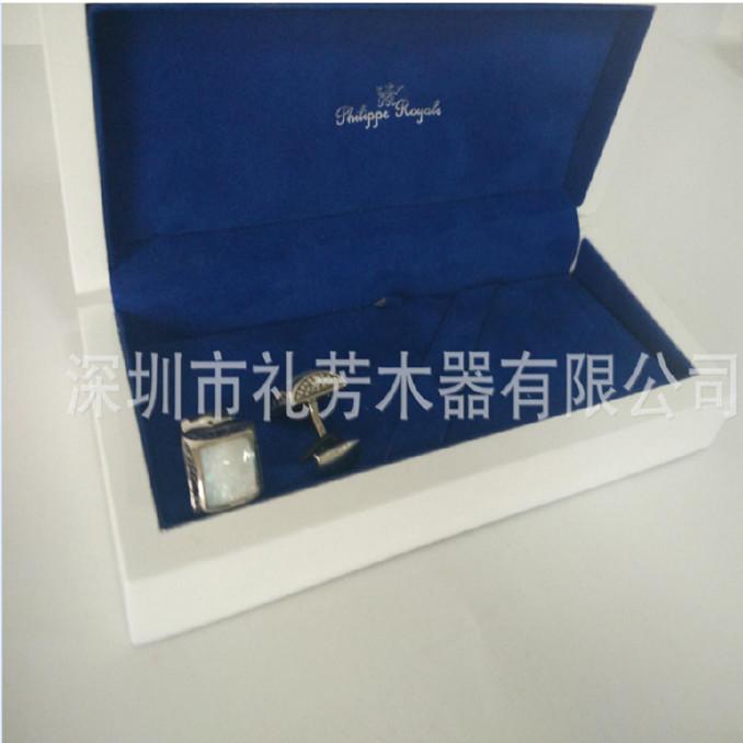 工厂木质白色钢琴漆亮光喷漆MDF板珠宝首饰工艺礼品包装木盒图片