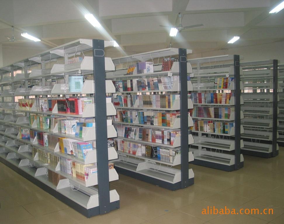 【厂家直销】佛山出口复柱式图书架、报刊架、杂志柜(保修十年)示例图3