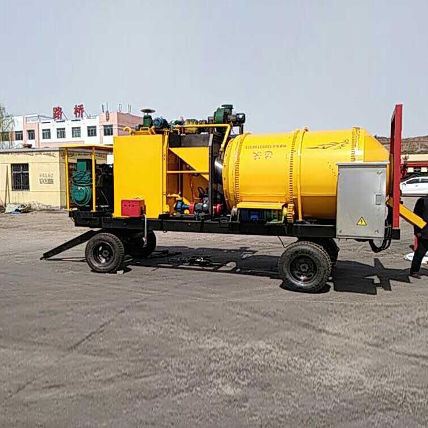 拖拉式沥青搅拌机 彩色沥青拌和机  沥青修补炒料机 野外施工用沥青路修补机