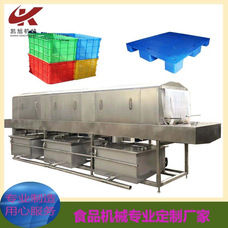 大型工業塑料托盤全自動清洗機器 托盤清洗機價格 周轉筐清洗機生產廠家