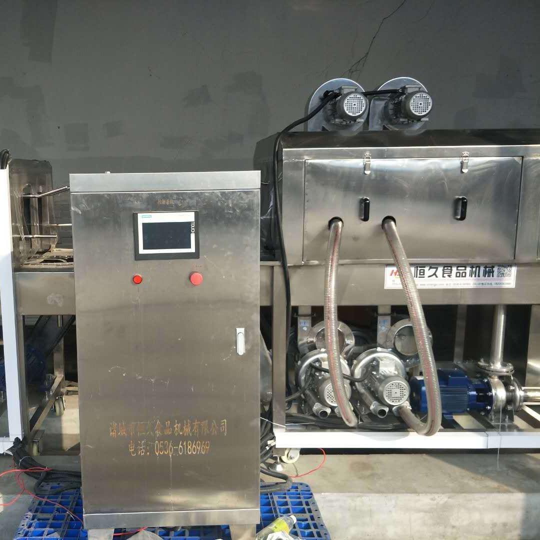 电加热洗筐机 蒸汽电加热两用风干式洗筐机 自动清洗自动烘干的周转筐清洗机