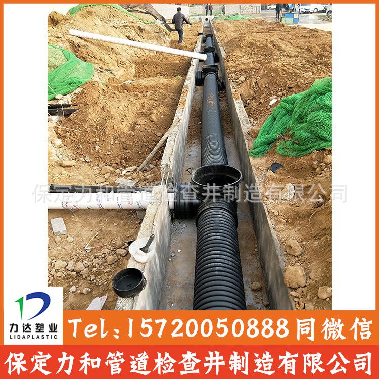 高密度聚乙烯HDPE双壁波纹管 塑料排污排水管示例图11