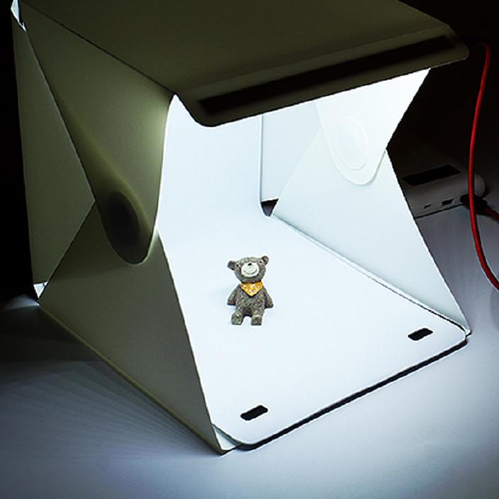 折叠摄影棚迷你柔光箱摄影灯小型便携式简易拍照箱道具器材图片