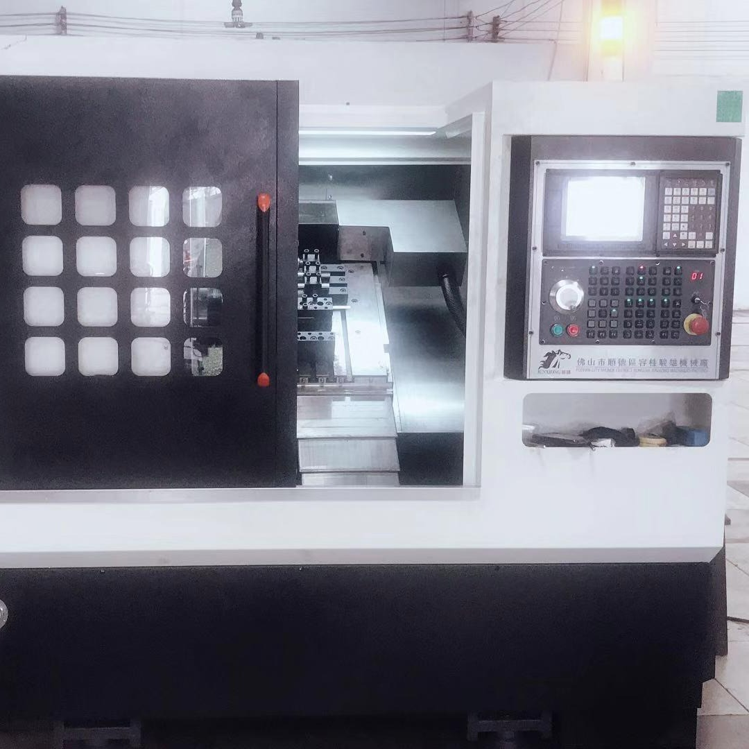 数控车床 棒料数控车床 刀塔式数控机床厂家 骏雄机械 JX-46斜床身刀塔式数控机床