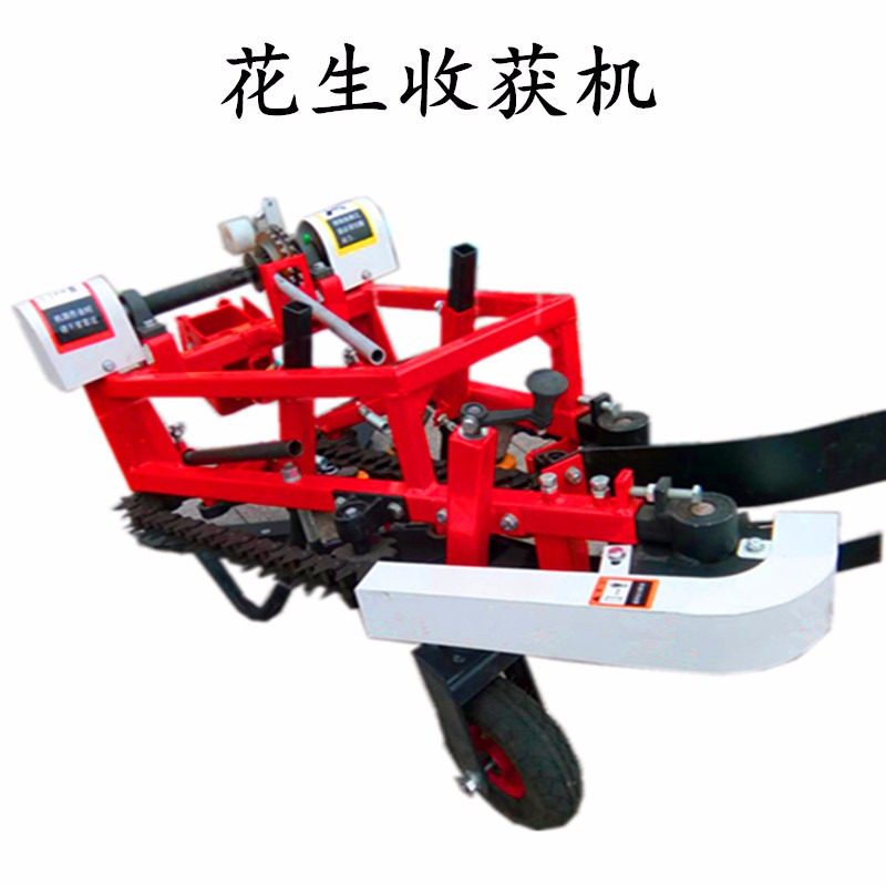 高效率大马力拖拉机带动花生收获机不伤农作物收获机械多功能大蒜花生收获机嘉田牌