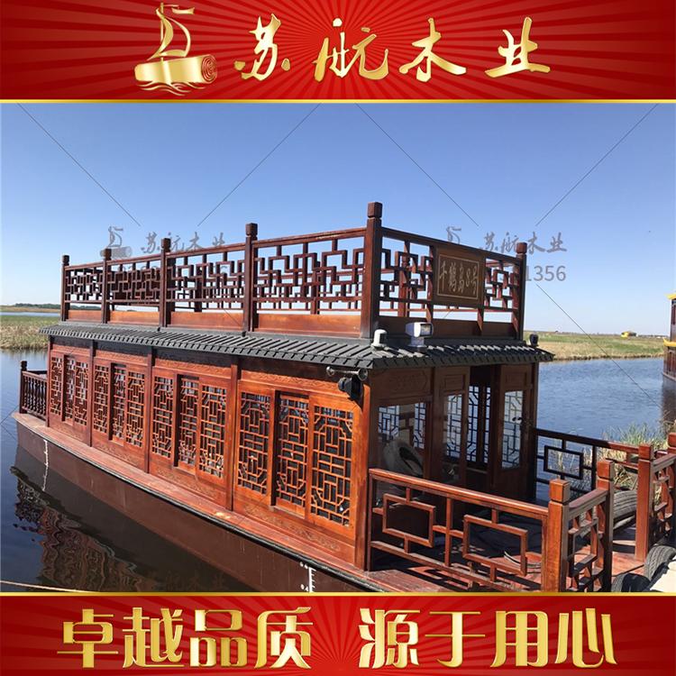 10米画舫船 双层画舫船生产厂家 玻璃钢画舫船