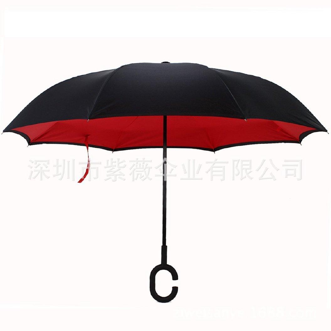 【深圳汽车初中长柄厂家定制雨伞伞反向伞现货的无极县好点图片