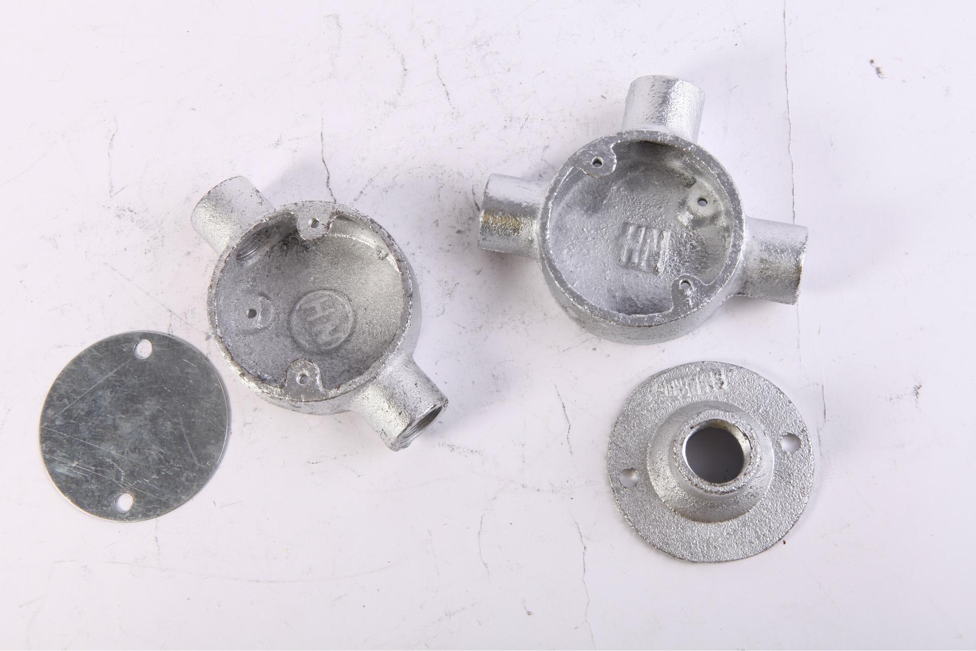 厂家直销热浸锌四级管配件 铸铁司令箱 25mm玛钢司令箱示例图3