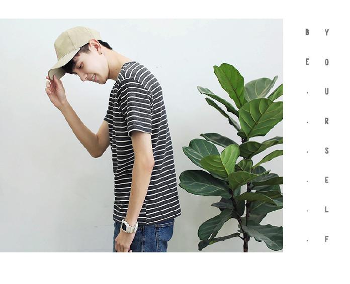 �n路日系男�b都跟了上去 2017春夏男t恤 �n 倒是一楞版�l�y短袖�w恤�W生青年男式t恤示例�D12