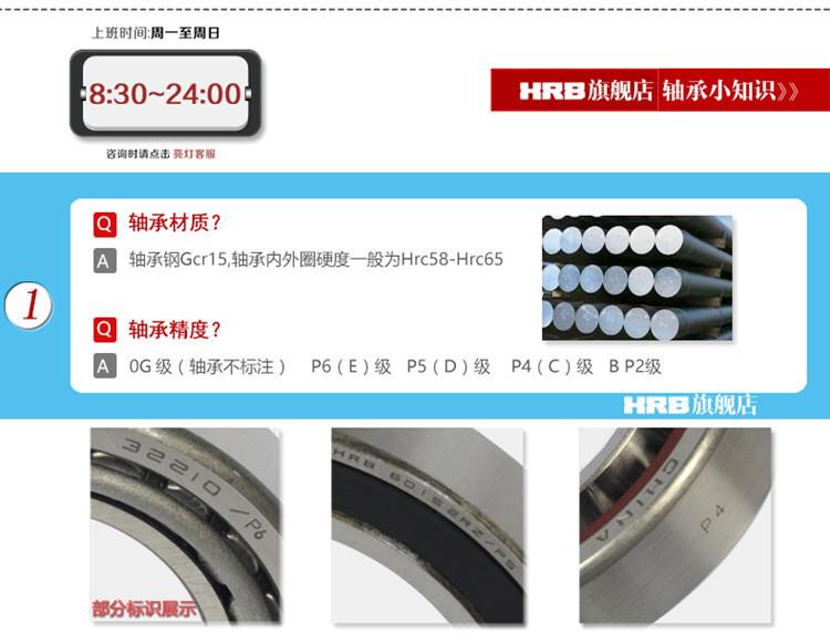 供应哈尔滨轴承1206双列调心球轴承精密纺织机械设备专用轴承示例图19