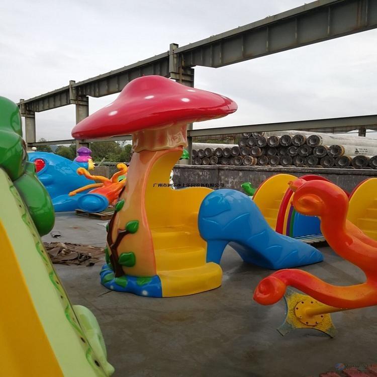 室內兒童水上樂園廠家 碧潮品牌生產制造 水上游樂設備價格  雨蘑菇滑梯