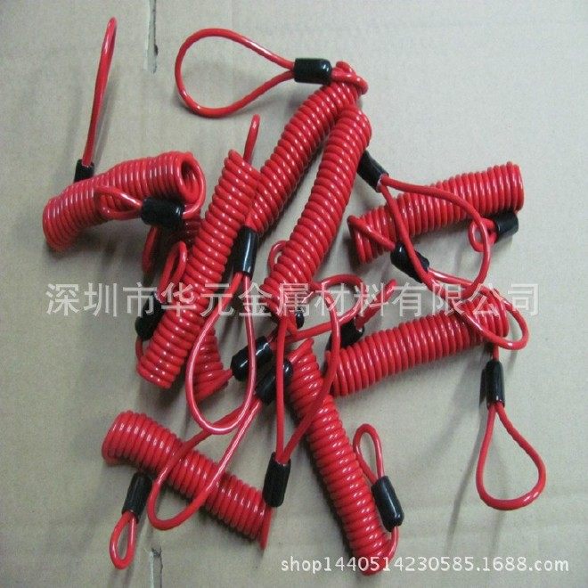 深圳弹簧钢丝绳 防旋转钢丝绳 运动器材拉索 箱包手把钢丝绳图片