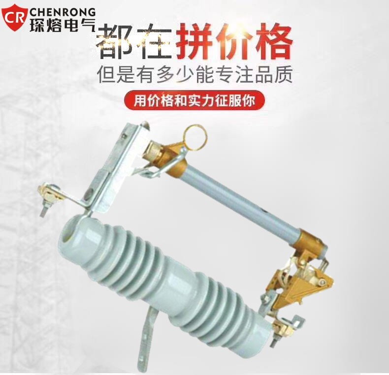 琛熔RW12-12/100A高压跌落式熔断器 令克开关12KV 户外高压熔断器