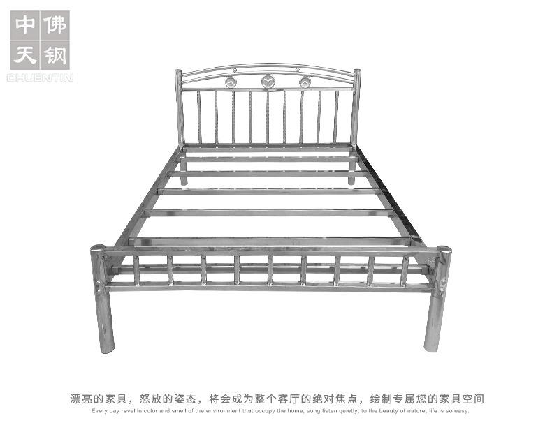 202钢制公寓出租屋床 不锈钢床1.2 1.5 1.8米304不锈钢双人床厂家示例图5