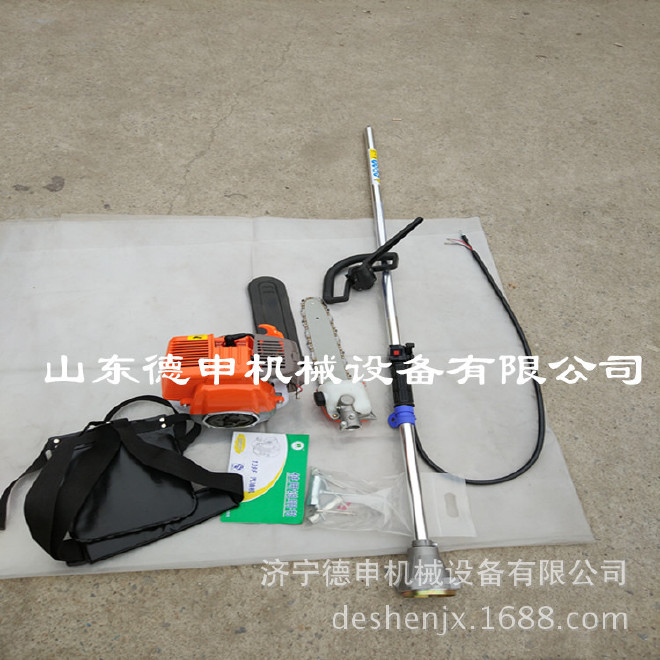 汽油伸缩三合一功能伐木高枝汽油锯 杨树梧桐树汽油剪树机图片