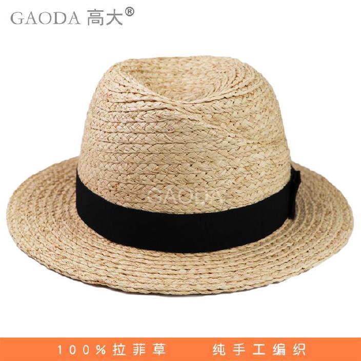 韩版盆帽冬装帽女童拉菲草帽时尚出游逛街女士爆款手钩装渔夫图片