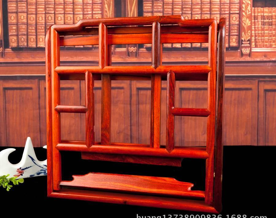 新款明式临帖架 红檀木字帖架看书架 折叠阅读架木制读书架示例图5